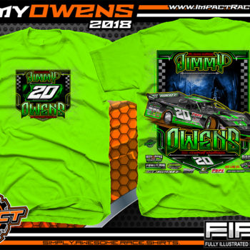 Jimmy Owens Lucas Oil Late Model Newport Nightmare Dirt Late Model Shirt
