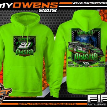 Jimmy Owens Lucas Oil Late Model Newport Nightmare Dirt Late Model Shirt Hoodie