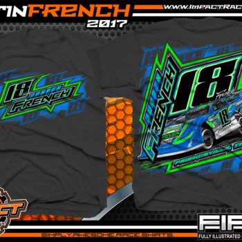 Justin French Dirt Late Model Racing Shirt