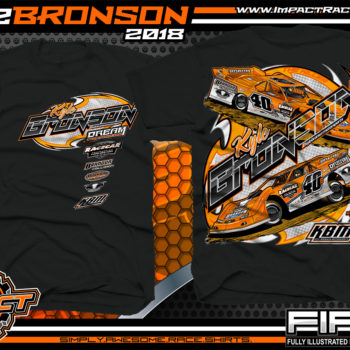 Kyle Bronson Lucas Oil Dirt Late Model Shirts Black