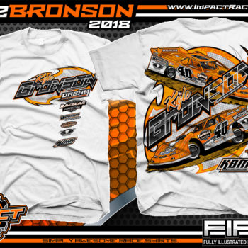 Kyle Bronson Lucas Oil Dirt Late Model Shirts White