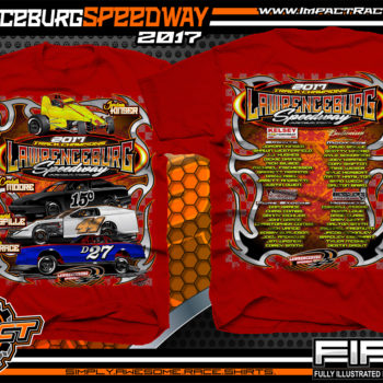 Lawrenceburg Speedway Dirt Track Racing Event Shirt Red