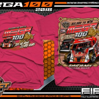 Mega 100 Dirt Track Racing Tyler County Speedway Event Shirt West Virgina Pink