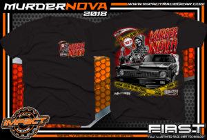 Muder Nova Midwest Street Cars Street Outlaws Street Racing T Shirt Black