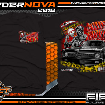 Muder Nova Midwest Street Cars Street Outlaws Street Racing T Shirt Black