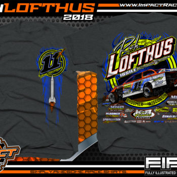 Rich Lofthus USMTS Dirt Track Modified Racing Shirt Dark Heather