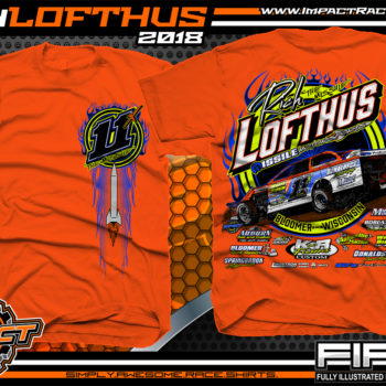 Rich Lofthus USMTS Dirt Track Modified Racing Shirt Orange