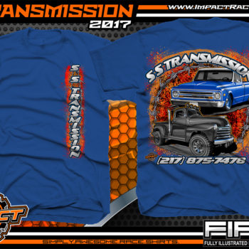 SS Transmission Custom Street Rod Shirt Royal Car Club Shirts