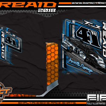 TJ Reaid Dirt Track Racing Late Model Shirts Black