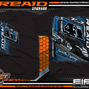 TJ Reaid Dirt Track Racing Late Model Shirts Black