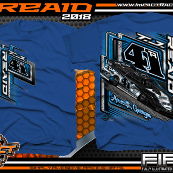 TJ Reaid Dirt Track Racing Late Model Shirts Royal