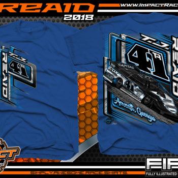 TJ Reaid Dirt Track Racing Late Model Shirts Royal
