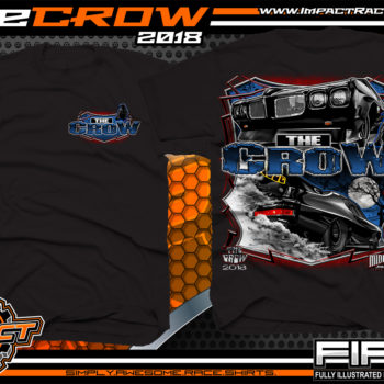 The Crow Midwest Street Cars Street Outlaws Street Racing T Shirt Black