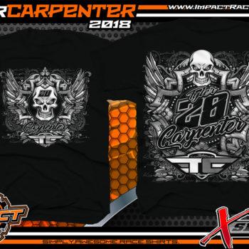 Tyler Carpenter X-Series AMRA Dirt Late Model Racing Shirt Black