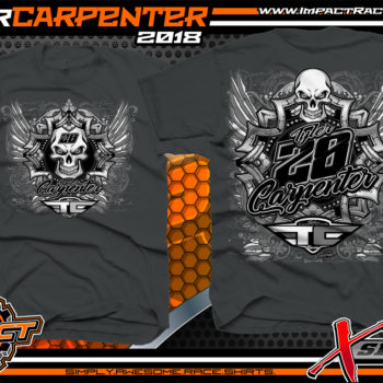 Tyler Carpenter X-Series AMRA Dirt Late Model Racing Shirt Charcoal