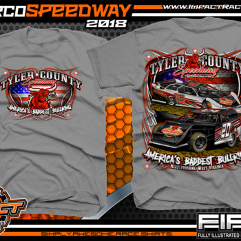 Tyler County Speedway Dirt Track Racing West Virgina Mountains Country Roads Racing Shirts Medium Grey