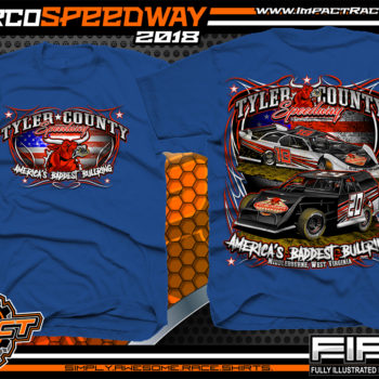 Tyler County Speedway Dirt Track Racing West Virgina Mountains Country Roads Racing Shirts Royal