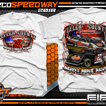 Tyler County Speedway Dirt Track Racing West Virgina Mountains Country Roads Racing Shirts White