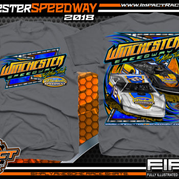 Winchester Speedway Virginia Dirt Track Racing T Shirt Charcoal