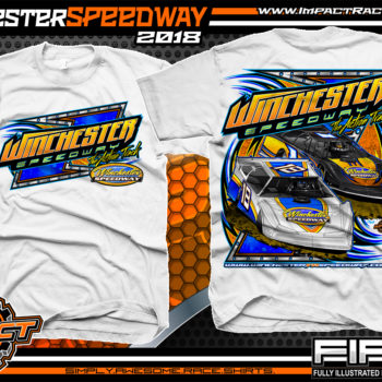 Winchester Speedway Virginia Dirt Track Racing T Shirt White