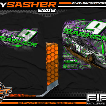 Cody Sasher Kentucky Lucas Oil Dirt LAte Model Shirt Black