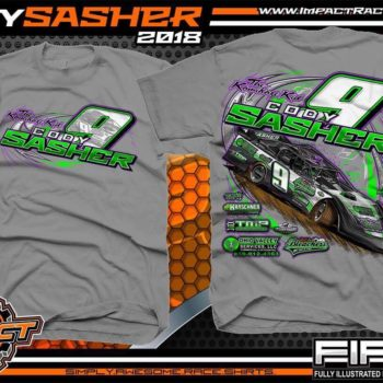 Cody Sasher Kentucky Lucas Oil Dirt LAte Model Shirt Medium Grey