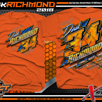 Derek Richmond Sport Mod Dirt Track Racing Shirt Orange