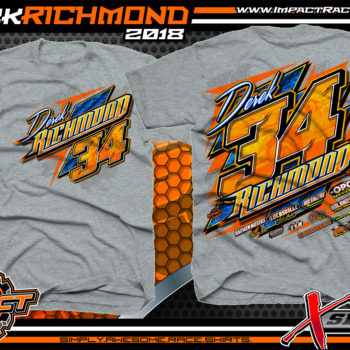 Derek Richmond Sport Mod Dirt Track Racing Shirt Sport Grey