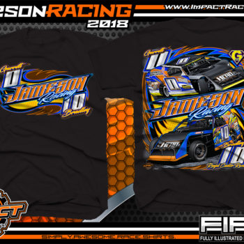 Jameson Racing Indiana UMP Modified Dirt Track Racing T-Shirts Black