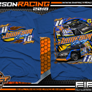 Jameson Racing Indiana UMP Modified Dirt Track Racing T-Shirts Royal