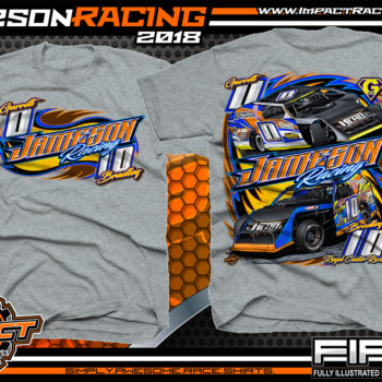 Jameson Racing Indiana UMP Modified Dirt Track Racing T-Shirts Sport Grey
