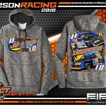 Jameson Racing Indiana UMP Modified Dirt Track Racing T-Shirts White Noise