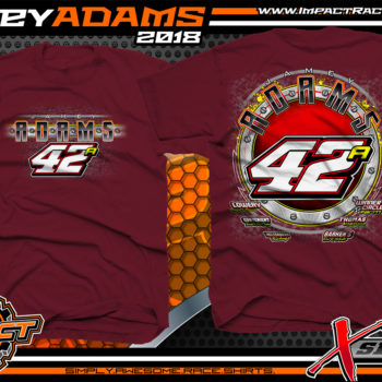 Jamey Adams Ohio Modified Dirt Track Shirts Maroon