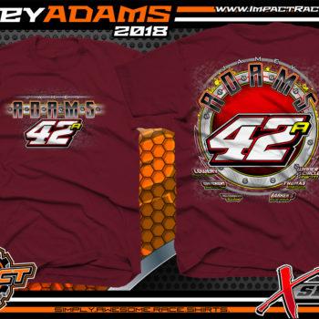 Jamey Adams Ohio Modified Dirt Track Shirts Maroon