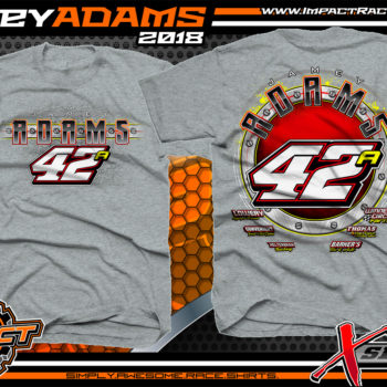 Jamey Adams Ohio Modified Dirt Track Shirts Sport Grey