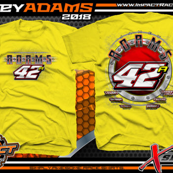 Jamey Adams Ohio Modified Dirt Track Shirts Yellow