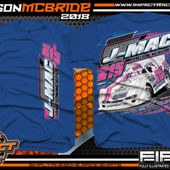 Jamison J-Mac McBride North Carolina Dirt Late Model Racing Shirts Royal