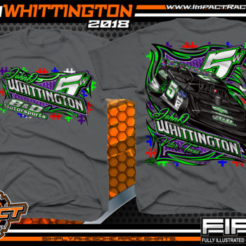 JohnO Whittington Racers With Purpose Autism Awareness Dirt Late Model Racing Shirt