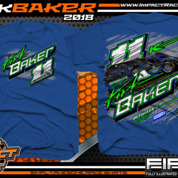 Kirk Baker Dirt Late Model Racing Shirts