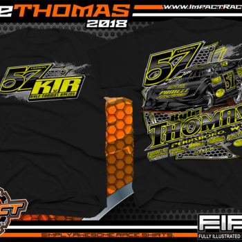 Kyle Thomas Lucas Oil Dirt Late Model Shirts World of Outlaws Dirt Track Racing Shirts Black