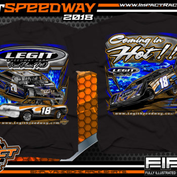 Legit Speedway Missouri Coming In Hot Dirt Track And Event Dirt Late Model T Shirt Black