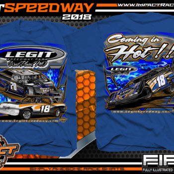 Legit Speedway Missouri Coming In Hot Dirt Track And Event Dirt Late Model T Shirt Royal
