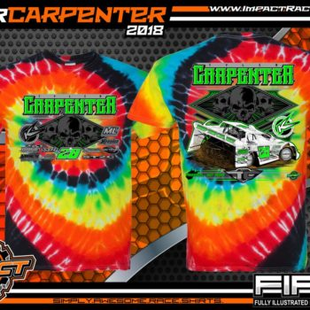 Tyler Carpenter West Virginia Lucas Oil Dirt Late model Tie Dye Illusion