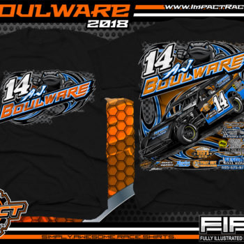 AJ Boulware South Dakota Dirt Track Racing UMP Modified Racing Shirts Black