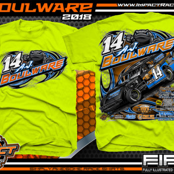 AJ Boulware South Dakota Dirt Track Racing UMP Modified Racing Shirts Safety Yellow