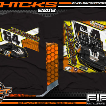 AJ Hicks Kentucky Lucas Oil Dirt Late Model Racing Shirts Black