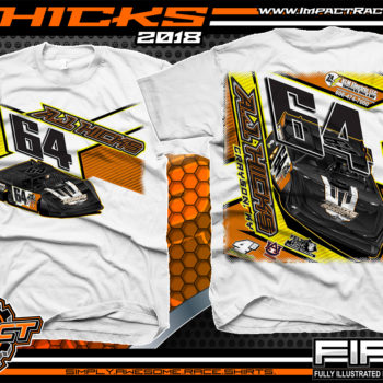 AJ Hicks Kentucky Lucas Oil Dirt Late Model Racing Shirts White