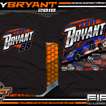 Andy Bryant USMTS Modified Dirt Racing T-SHirts Black