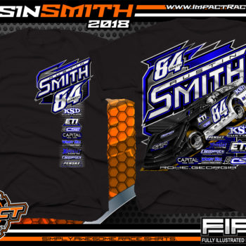 Austin Smith Lucas Oil Dirt Late Model Capital Race Cars Georgia Racing Shirts Black