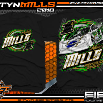 Austyn Mills Florence Speedway Lucas Oil Dirt Late Model Racing Shirts Kentucky Black